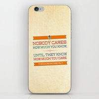 How Much You Care iPhone & iPod Skin