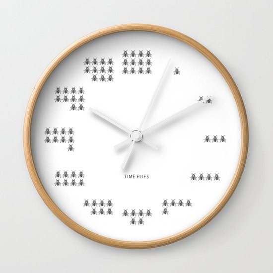Time Flies Wall Clock By I Love Doodle Society6
