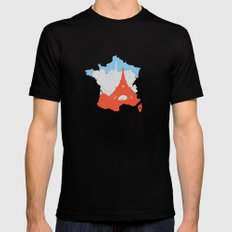Paris - France Black SMALL Mens Fitted Tee