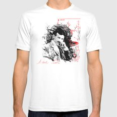 Nikola Tesla White Mens Fitted Tee SMALL