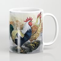 Rooster And Hen Mug