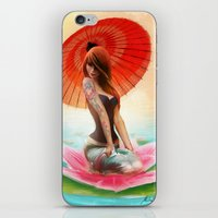 Lotus Girl iPhone & iPod Skin