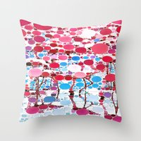 :: Flamingo Hookah :: Throw Pillow