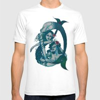 Pisces, The Sweet Dreamers: Feb 20 - Mar 20 / Original Gouache Mens Fitted Tee White SMALL