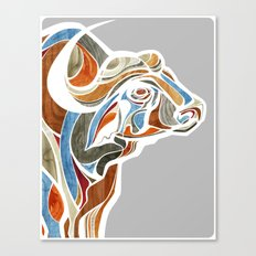 Cape Buffalo (technicolo… Canvas Print