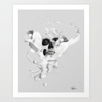 Milk - An Abstract look into Anatomy Art Print