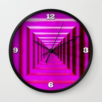 Purple Abyss Wall Clock