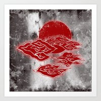 The Red Clouds Art Print