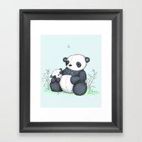 Plushie Pandas Framed Art Print