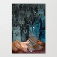 In The Company Of Wolves Canvas Print