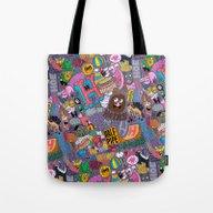 Tote Bag featuring HHHHHH's by Chris Piascik