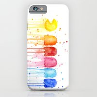 iPhone Cases featuring Retro Rainbow by Olechka