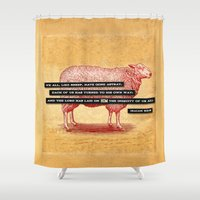 Like Sheep Shower Curtain