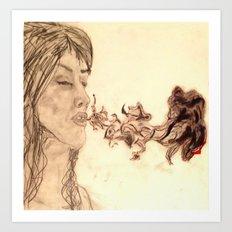 Purple Smoke Art Print