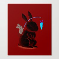 Bunny Rider Canvas Print