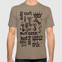 Geek Type Mens Fitted Tee Tri-Coffee SMALL