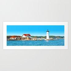 Lighthouse Panorama Art Print