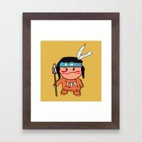 Little Red Indian Framed Art Print