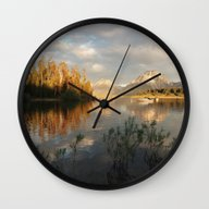 Sunrise On Jackson Lake,… Wall Clock