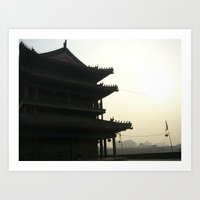 China Silhouette Art Print