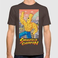 Springfield Champion Mens Fitted Tee Brown SMALL