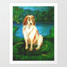 Brittany Spaniel Art Print