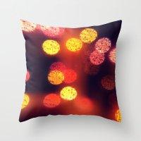 Orange Lights Throw Pillow