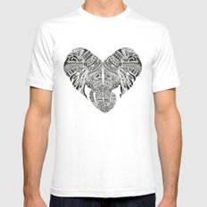 Huge Heart Mens Fitted Tee White SMALL