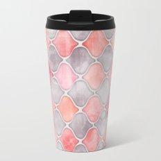 Rhythm of the Seasons - coral pink & grey Travel Mug