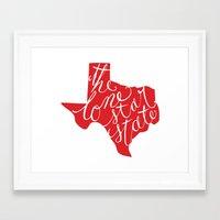 The Lone Star State - Te… Framed Art Print