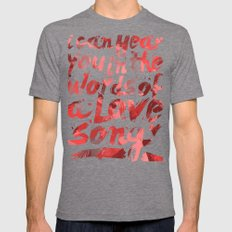 words of a love song Mens Fitted Tee Tri-Grey SMALL