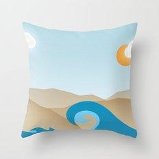 Beach Paradox Throw Pillow