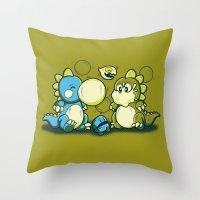 BUBBLE JOKE Throw Pillow