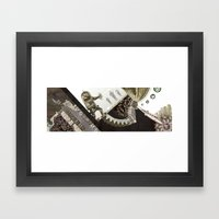 Heart in a cage Framed Art Print
