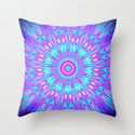 Pink Lavender Turquoise Mandala Throw Pillow