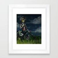 Zombie Wolf Framed Art Print