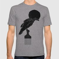 The Black Crow Mens Fitted Tee Athletic Grey SMALL