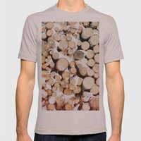 Firewood Mens Fitted Tee Cinder SMALL