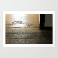 LOST PLACES - olden forsaken tiles Art Print
