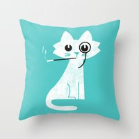 Mark - Aristo-Cat Throw Pillow