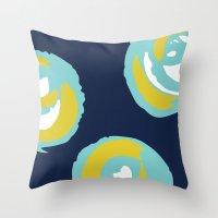 Big Rosie - Turquoise Throw Pillow