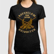 Ravenclaw Quidditch Team… Womens Fitted Tee Tri-Black SMALL