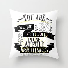 All The Bright Places By… Throw Pillow