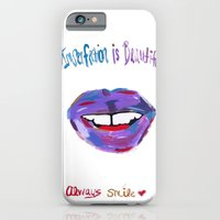 iPhone & iPod Case featuring Imperfection Is Beauty Always Smile by RickyRicardo787