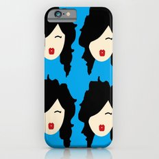 Minimalist girl with black hair Slim Case iPhone 6s