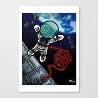 Un voyage dans l'espace Canvas Print