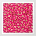 candy (hot pink) Art Print