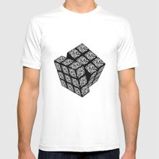 qr cube Mens Fitted Tee White SMALL