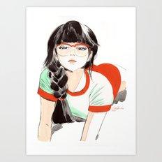 Megane Art Print