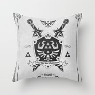 Legend Of Zelda Hylian S… Throw Pillow